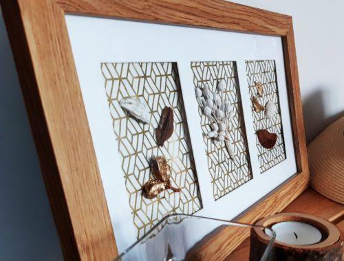 dekoracja DIY jesienna z ramki