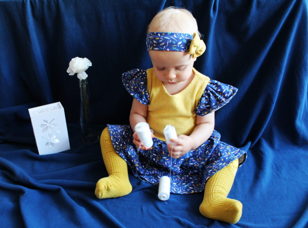 IMG 3713 1 1024x758 Jesienna kreacja na roczek. Czyli: szycie sukienki   drugie podejście