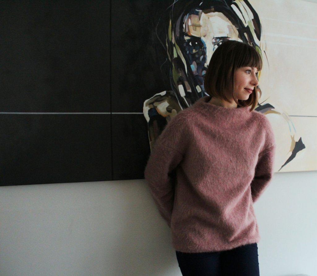 %name Z serii szycie krok po kroku   wełniany sweter typu oversize