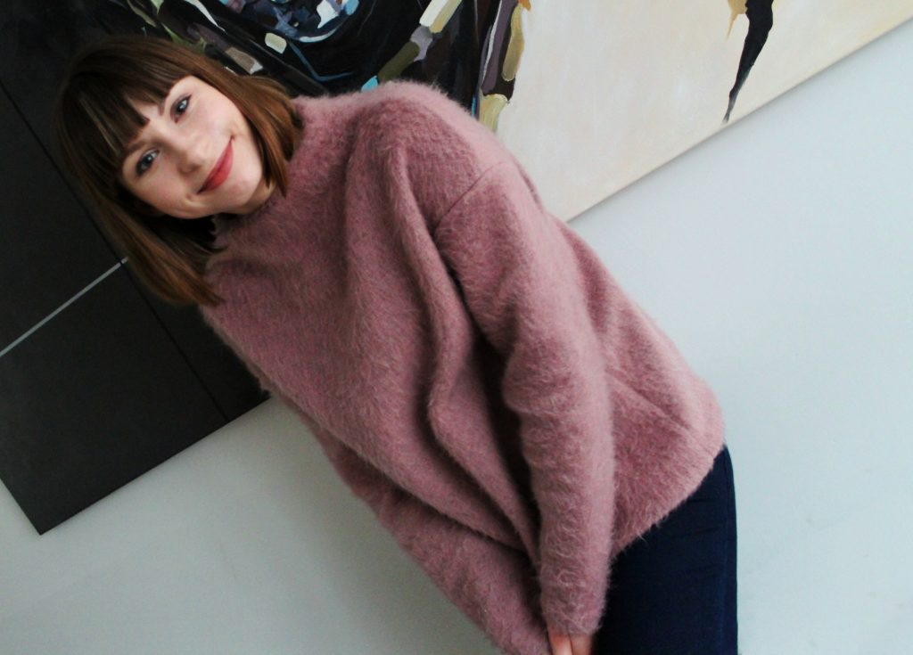 IMG 5025 1024x735 Z serii szycie krok po kroku   wełniany sweter typu oversize