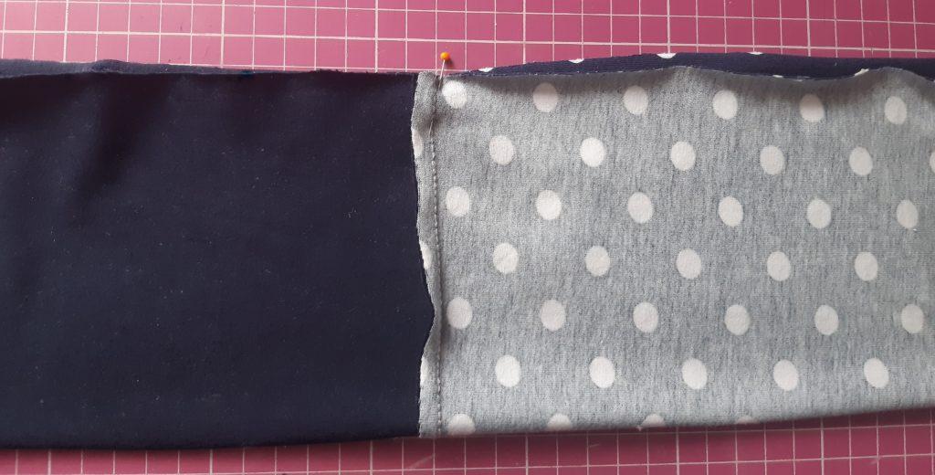 4 4608x2338 2 1024x520 Jak uszyć rękawy z materiałem wewnętrznym? Na przykładzie codziennej sukienki typu oversize   wykrój własny.