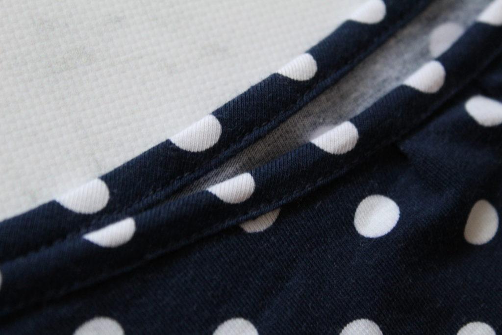 IMG 5669 1024x683 Jak uszyć rękawy z materiałem wewnętrznym? Na przykładzie codziennej sukienki typu oversize   wykrój własny.