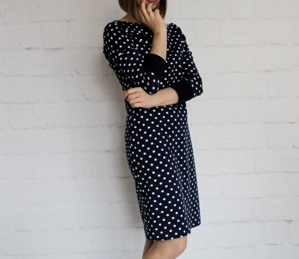 %name Jak uszyć rękawy z materiałem wewnętrznym? Na przykładzie codziennej sukienki typu oversize   wykrój własny.