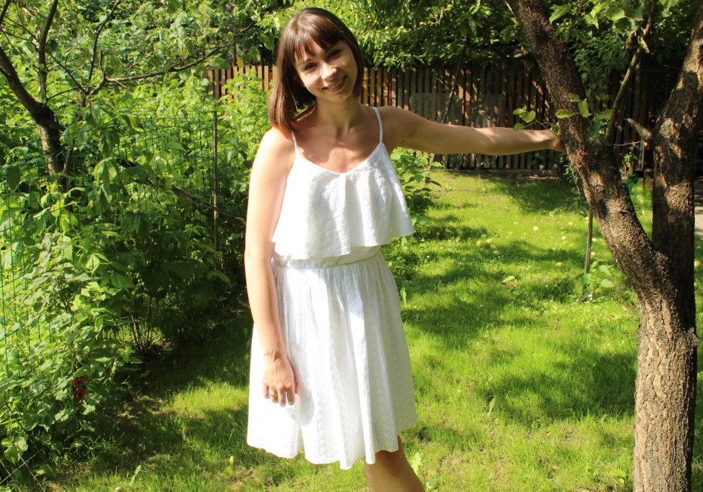 IMG 8273 1024x717 Biała sukienka w stylu boho. Szycie zza kulis