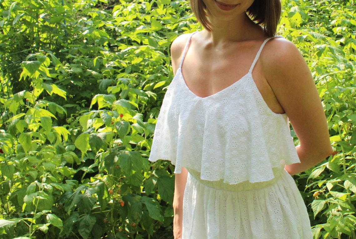 biała sukienka boho szycie